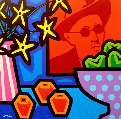 Crying Painting - Still Life With James Joyce  by John  Nolan