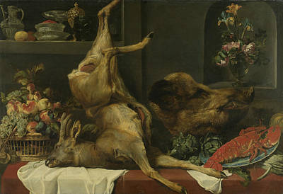 Painting - Still Life With Large Dead Game, Fruit And Flowers by Frans Snyders