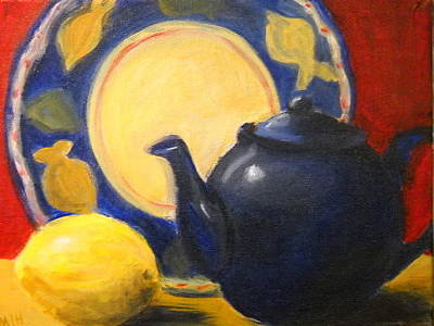 Painting - Still Life With Lemon by Marcia Hochstetter