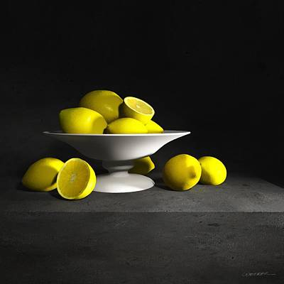 Lemon Digital Art - Still Life With Lemons by Cynthia Decker