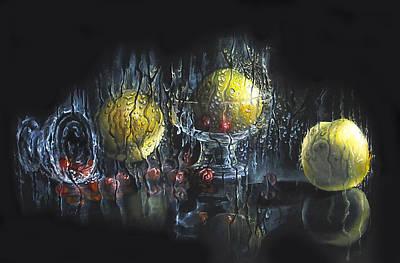 Lemon Drops Painting - Still Life With Lemons by Svetlana Kanyo