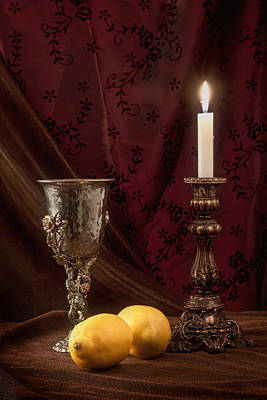 Candle Lit Photograph - Still Life With Lemons by Tom Mc Nemar