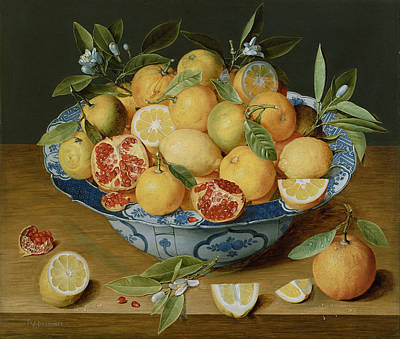 Still Life With Lemons Art Print by van Hulsdonk