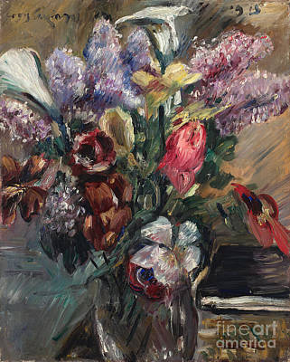 Painting - Still Life With Lilac Calla And Tulips by Celestial Images