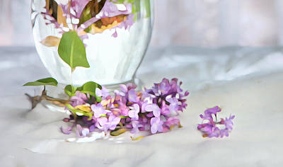 Still Life Photograph - Still Life With Lilacs by Theresa Tahara