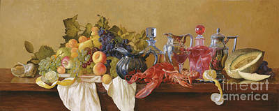 Painting - Still Life With Lobster by Simon Kozhin