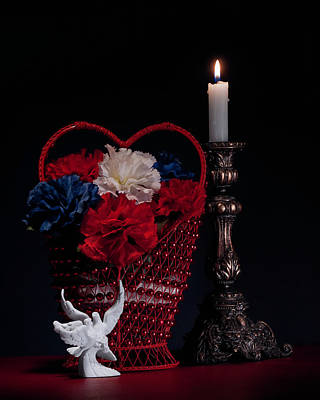 Burn Photograph - Still Life With Lovebirds by Tom Mc Nemar