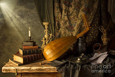 Photograph - Still Life With Lute by Jon Wild