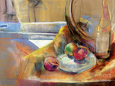 Art Print featuring the painting Still Life With Onions by Daun Soden-Greene
