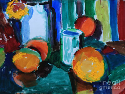 Painting - Still Life With Orange by Andrey Semionov