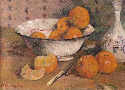 Still Life With Oranges Print by Paul Gauguin