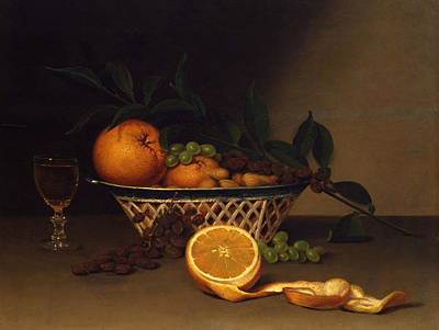 Still Life With Oranges Art Print by Raphaelle Peale