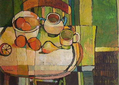 Painting - Still Life With Oranges by Thomas Tribby
