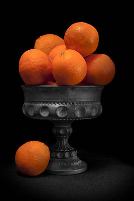 Urn Photograph - Still Life With Oranges by Tom Mc Nemar