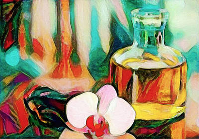 Still Life With Orchid Art Print by Roger Smith