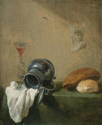 Photograph - Still-life With Overturned Jug by David Teniers the Younger