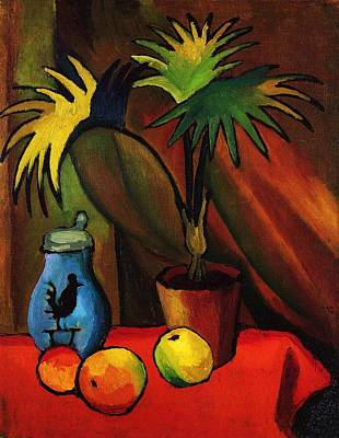Still Life With Palm Art Print by Pg Reproductions