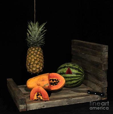 Still Life With Papaya Art Print