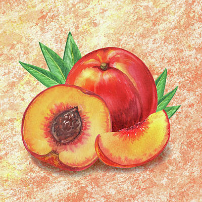 Painting - Still Life With Peach by Irina Sztukowski