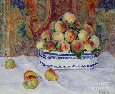 Still Life With Peaches, 1881 Art Print