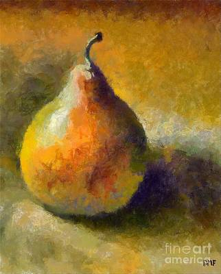 Impressionism Painting - Still Life With William's Pear by Dragica  Micki Fortuna