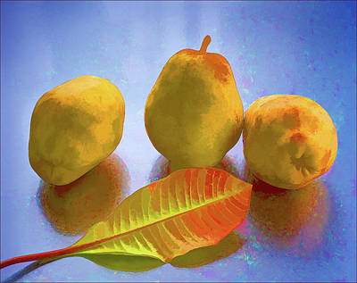 Art Print featuring the photograph Still Life With Pears by Vladimir Kholostykh