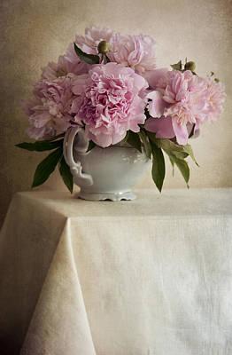 Still Life With Pink Peonies Art Print