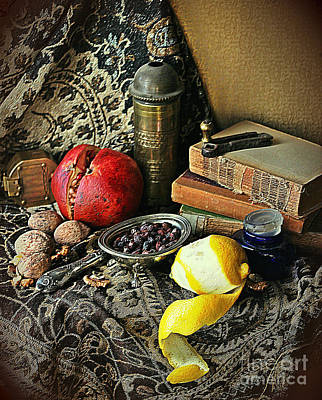 Photograph - Still Life With Pomegranate And Lemon by Binka Kirova