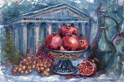 Still Life With Pomegranates Original by Elena Zorina