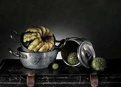 Leather Photograph - Still Life With Pumpkin by Nailia Schwarz