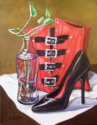 Painting - Still Life With Red Corset by Laura Aceto