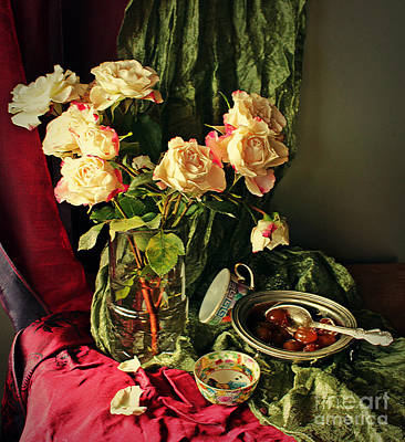 Photograph - Still Life With Roses by Binka Kirova