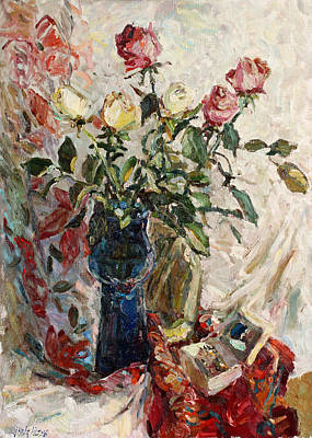 Painting - Still Life With Roses by Juliya Zhukova