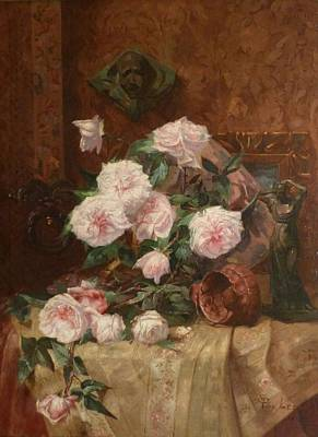 Flower Painting - Still Life With Roses by MotionAge Designs