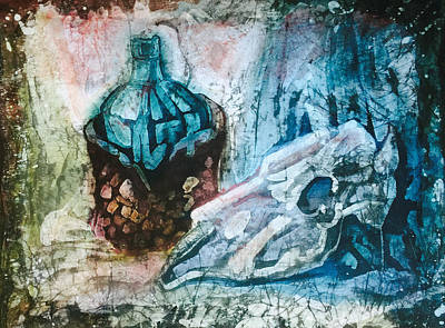 Still Life With Scull Art Print