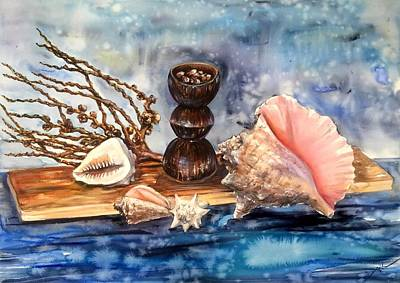 Still Life With Shells Original by Katerina Kovatcheva