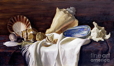 Painting - Still Life With Shells by Simon Kozhin