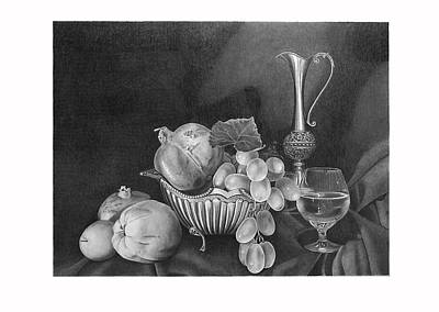 Still Life With Silver Pitcher Original by Dietrich Moravec