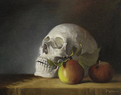 Painting - Still Life With Skull by Joe Winkler