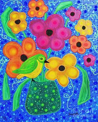 Interior Still Life Mixed Media - Still Life With Small Bird    by Sarah Loft