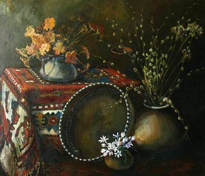 Painting - Still-life With Snowdrops by Tigran Ghulyan