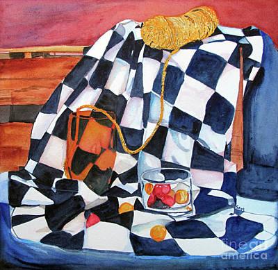 Painting - Still Life With Squares by Sandy McIntire