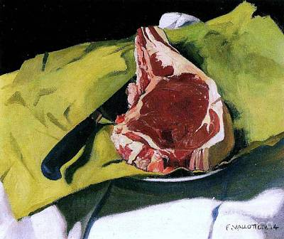 Still Life With Steak Art Print by Pg Reproductions