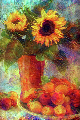 Mixed Media - Still Life With Sunflower 2 by Lilia D