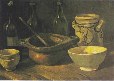 Painting - Still Life With Three Bottles by Vincent Van Gogh