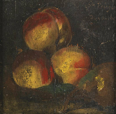 Painting - Still Life With Three Peaches And A Pear by Gustave Courbet