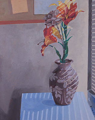 Painting - Still Life With Tiger Lilies by Susan McNally