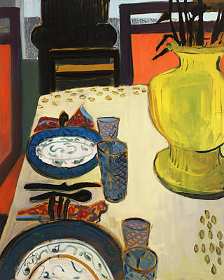 Painting - Still Life With Two Plates by Thomas Tribby