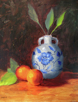 Painting - Still Life With Vase And Fruit by Liberty Dickinson