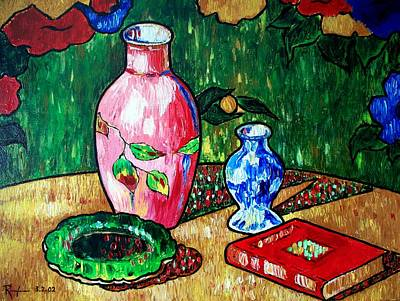 Painting - Still Life With Vase by RB McGrath